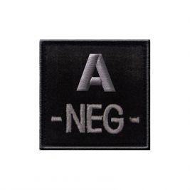 Insigne A- de groupe sanguin Noir - TOE Pro