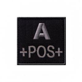 Insigne A+ de groupe sanguin Noir- TOE