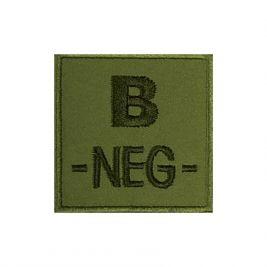 Insigne B- de groupe sanguin Kaki - TOE