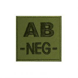 Insigne AB- groupe sanguin Kaki - TOE Pro