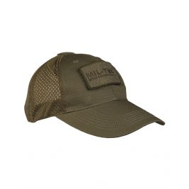 Casquette Base-Ball filet Vert OD - Miltec
