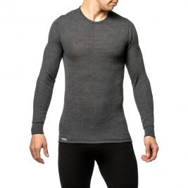 Tee-shirt manches longues Crewneck 200 gris - Woolpower