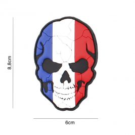 Patch 3D crâne fendu France en PVC - 101 Inc