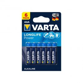 Lot de 6 piles AAA Longlife power - Varta