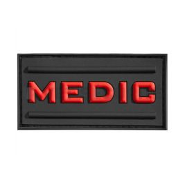 Patch médic rubber rouge - JTG