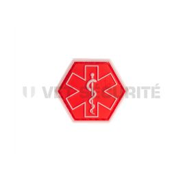 Patch hexagonal paramedical rouge - JTG