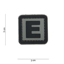 Patch 3D en PVC lettre E - 101 Inc