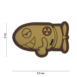 "Patch 3D en PVC ""Funny Torpedo"" Sable - 101 Inc"