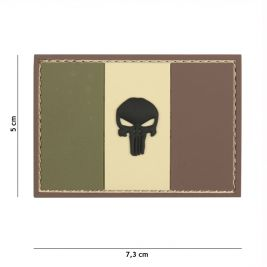 Patch 3D en PVC Punisher France Woodland - 101 Inc