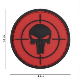Patch 3D en PVC Punisher Cible Rouge - 101 Inc