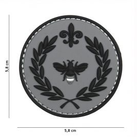 Patch 3D en PVC Napoleon abeille gris - 101 Inc