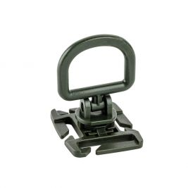 Point d'ancrage rotatif D-ring Vert OD adaptable sur MOLLE - TOE Pro