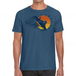 Tee-shirt SUNSET FIREPOWER Indigo Heather - 5.11 Tactical