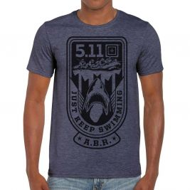 Tee-shirt JUST KEEP SWIM Navy Heather - 5.11 Tactical