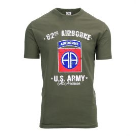 Tee-shirt US Army 82nd Airbone Vert - Fostex Garments