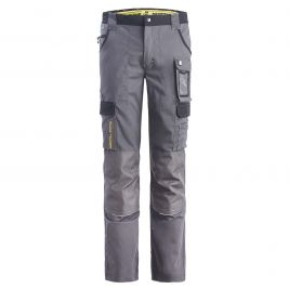 PANTALON DE TRAVAIL MULTIPOCHES CARY GRIS ET NOIR - North Ways