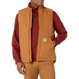 Veste sans manches Washed Duck Lined 104277 Marron - Carhartt