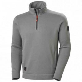 KENSINGTON HALF ZIP KNIT FLEECE GREY - HELLY HANSEN