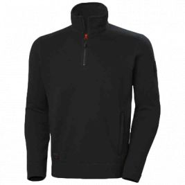 KENSINGTON HALF ZIP KNIT FLEECE BLACK - HELLY HANSEN
