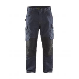 Pantalon maintenance Denim Stretch 2D Marine/Noir - Blaklader