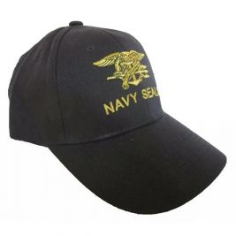 Baseball cap Navy Seals Black - Fostex Garments