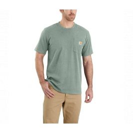 WORKW POCKET S-S T-SHIRT 103296 G67-LEAF GREEN SNOW HEATHER