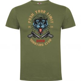 Tee-shirt Vert Push your limit tiger- Army design by Summit Outdoor